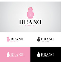Perfume bottle logo vector