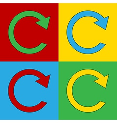 Pop art repeat icons vector