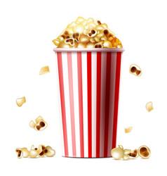 Popcorn bucket realistic vector