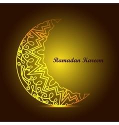 Ramadan Kareem background with islamic ornament vector