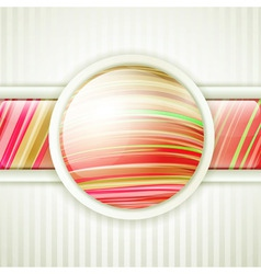 round button frame vector image