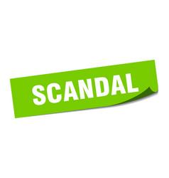 Scandal sticker scandal square sign scandal peeler vector