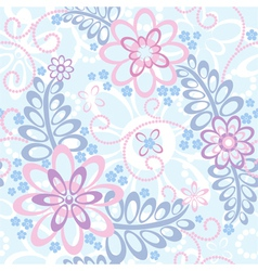 Seamless floral background with forget-me-not vector