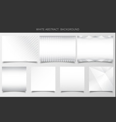 set of geometric pattern white and gray vector image