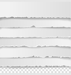 set torn white note vector image
