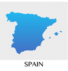 Spain map in europe continent design vector