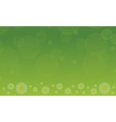 Spring with flower on green background vector