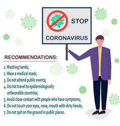 stop coronavirus concept social distancing vector image