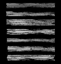 tire tracks car wheel road dirt print pattern vector image