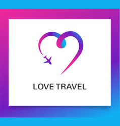 travel agency tourism app and trips logo vector image