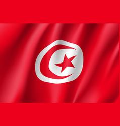 Tunisia realistic flag vector