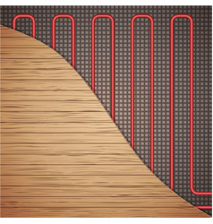 Underfloor heating system vector