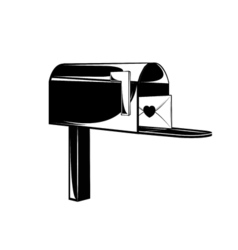 Vintage post service icon Mail box vector