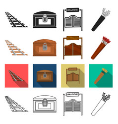 West history education and other web icon in vector