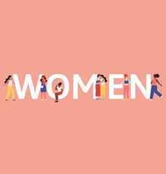 women unity female friendship or sisterhood vector image