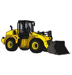 yellow heavy wheeled dozer vector image