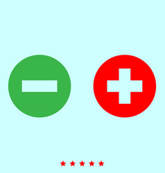 add sign and delete sign it is icon vector image