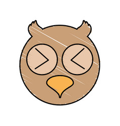 cute owl drawing animal vector image