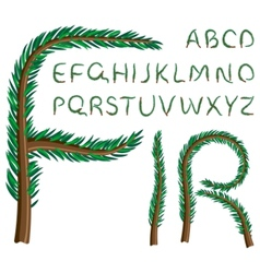 fir tree alphabet vector image vector image
