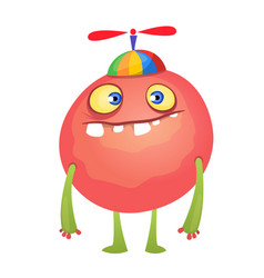 funny cartoon red monster vector image vector image