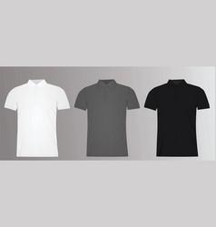 man polo t shirt template vector image vector image
