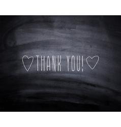 Thank you hearts vector image