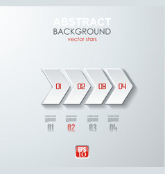 abstract white paper arrow infographics with vector image