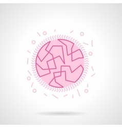 Bacterial genome flat pink icon vector image