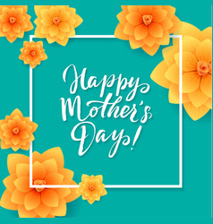 Happy mothers day floral greeting card beautiful vector