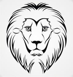 Lion Head Tattoo Design vector image vector image