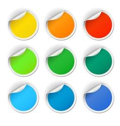 Round stickers set vector image