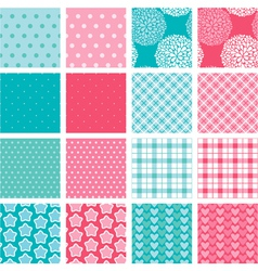 simple seamless set 380 vector image