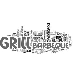 barbeque maintenance tips text word cloud concept vector image vector image