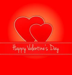 Invitation card happy valentines day heart vector