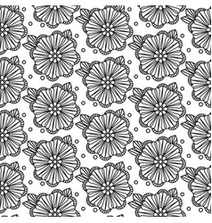 seamless black and white pattern zentangle design vector image