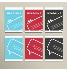 Set cover with speech bubbles on a simple banner vector image