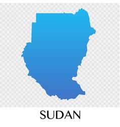 Sudan map in africa continent design vector