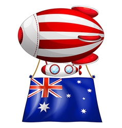 The flag of australia attached to the floating vector
