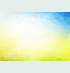 abstract blue yellow triangles background vector image