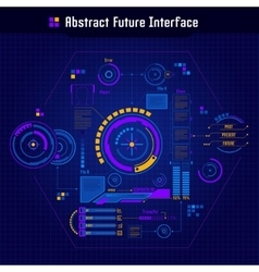 Abstract Future Interface Concept vector image