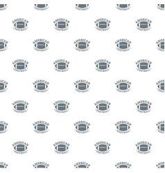 american football pattern seamless vector image