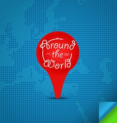 Around the world concept Design template vector image