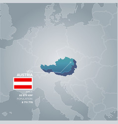 Austria information map vector