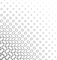 Black and white diagonal ellipse pattern vector
