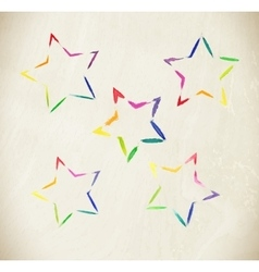 Colorful art stars vector image