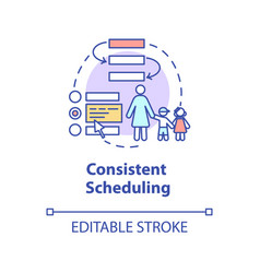 Consistent scheduling concept icon vector
