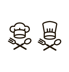 cooking cuisine logo or icon elements the vector image
