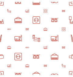 Cord icons pattern seamless white background vector