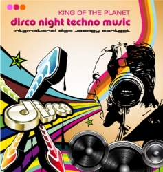 Discotheque Dj flyers vector