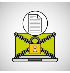 document security internet technology vector image